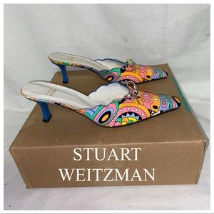 STUART WEITZMAN Patten Leather MultiColored Heel